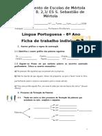 Fichas de Trabalho Avaliação- Acentuação e Processo de Formação de Palavras