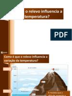 Influência Do Relevo Na Temperatura