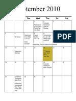 CHS Calendar 2010-2011