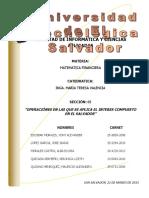 Transacciones en Las Que Se Aplica El Interes Compuesto en -El Salvador