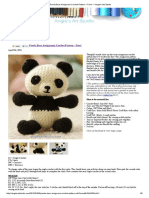 Panda Bear Amigurumi Crochet Pattern – Free! — Angie's Art Studio