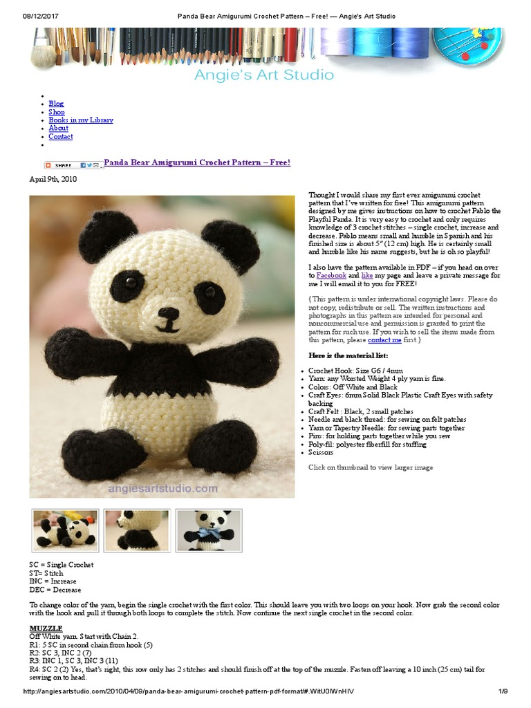 Super Cute Panda Crochet Patterns You Will Love | The WHOot | 1024x768