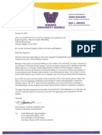 Waukee Community School District's letter to Frank Scaglione
