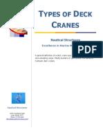 Types of Deck Cranes