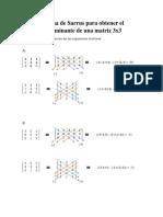 Metodo de Sarrus Para Obtener El Determinante de Una Matriz 3x3
