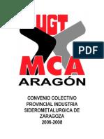 CONVENIO COLECTIVO PROVINCIAL INDUSTRIA SIDEROMETALURGICA DE ZARAGOZA 2006-2008
