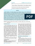 Anti-fertility Effect of Various P Lants at Dayak