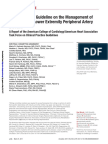 2016 AHA ACC Guidelines in the Management of PAD