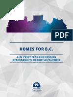 NDP 30 Point Housing Plan 2018
