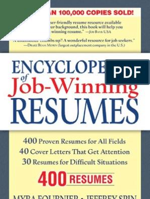 Encyclopedia of Job-Winning Resumes   Résumé   Human Resources