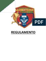 Regulamento - Campeonato Sãobentense de Futebol - 2018