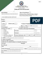 Formulario de Naturalizaciones