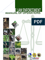 Wildlife Law Enforcement Manual of Operations