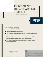 Integration With Reading and Writing Skills