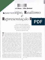 Estereotipo, realismo e representação racial