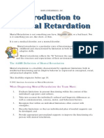 Introduction to Mental Retarda