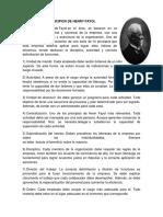 Principios de Henry Fayol