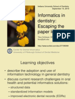 Informatics in dentistry