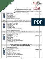 Pinzas Volt-Amperométricas CEM - USD