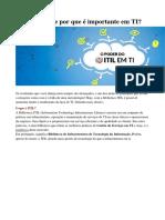 ITIL o Que é e Porque é Tão Importante