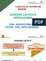 Acidosis Lactica - Hipoglicemia - Adolfo Pincay