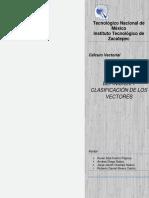 Vector y Clasificación de Los Vectores