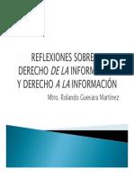 Reflexiones Derecho de La Información