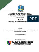 Spesifikasi Teknis Pekerjaan ( RKS )