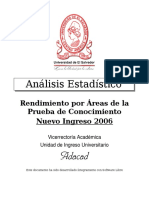 Analisis Rdto Areas Ni2006