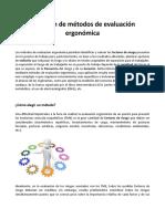 Selección de Métodos de Evaluación Ergonómica