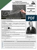 Caderno de Prova Professor de 1 Ao 5 Ano 1466883802