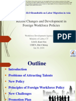 Recent Changes and Development in Foreign Workforce Policies