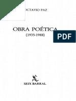 Octavio Paz, Blanco, 1967