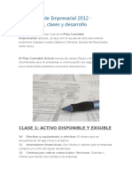 Plan Contable Empresarial 2012