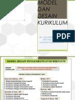 Model Desain Kurikulum