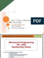 RAC Part 1 Mechanical GATE ESE