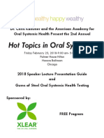 2018 Chicago Hot Topics in Oral Systemics Speaker Guide.