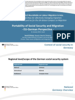 Portability of Social Security and Migration-EU-German Perspective