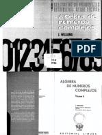 Álgebra de Números Complejos; Selección de Problemas Resueltos - J. Williams [Limusa].pdf