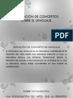 Formacion de Conceptos de Lenguaje.
