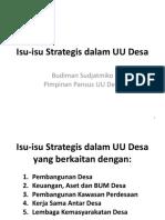 Modul 7.1 Isu Strategis UU Desa