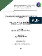 Fracturamiento Hidráulico y Estimulación Matricial