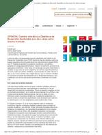 OPINIÓN_ Cambio Climático y Objetivos de Desarrollo Sostenible Son Dos Caras de La Misma Moneda