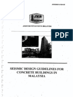 JKR Seismic Design Guideline for Concrete Building in Malaysia