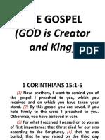 The GOSPEL - God Creator and King - Sermon
