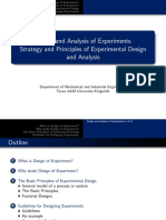 Lecture 1 - Design and Analysis of Experiments