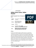Raffles Cancer Centre, Raffles Hospital, Singapore _ ESMO
