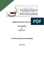 Administración de Proyectos-Ensayo