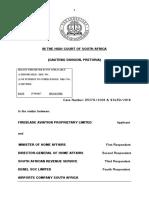 Fireblade Aviation (Pty) Ltd v Minister of Home Affairs Case No