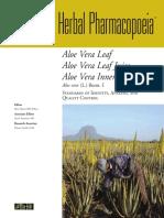 Monograph AHP Aloe Vera Leaf